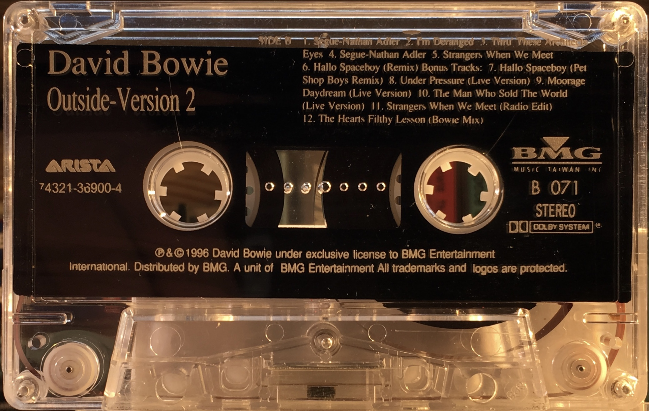 Outside version 2 taiwan bmg arista bowieontape pet shop boys remix under pressure live version moonage daydream live version the man who sold the world live version strangers when we meet m4hsunfo